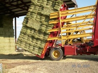 Stack of timothy hay